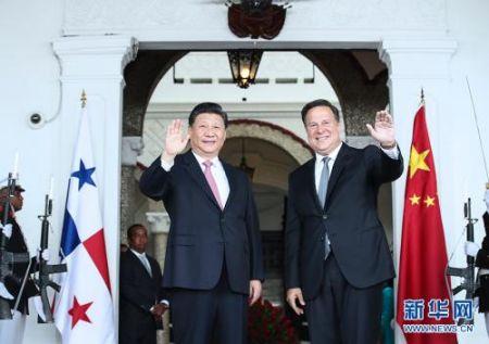 当地时间12月3日,中国国家主席习近平在巴拿马城同巴拿马总统巴雷拉举行会谈。 新华社记者 兰红光 摄 图片来源:新华网