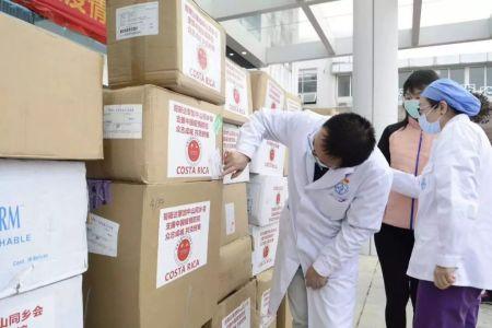 哥斯达黎加侨胞捐赠的物资。(图片来源:作者提供)
